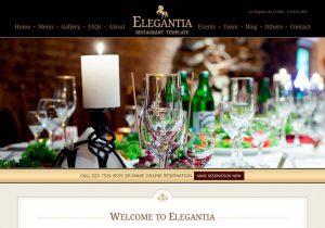 Sito internet economico - template ristorante homepage
