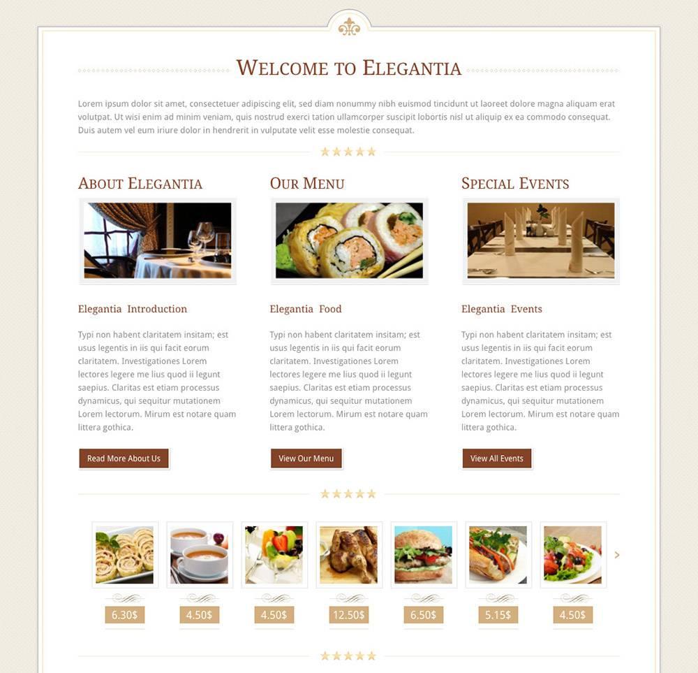 Sito internet economico - template ristorante - dettaglio prodotti