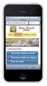 Siti internet per dispositivi mobili - visione verticale