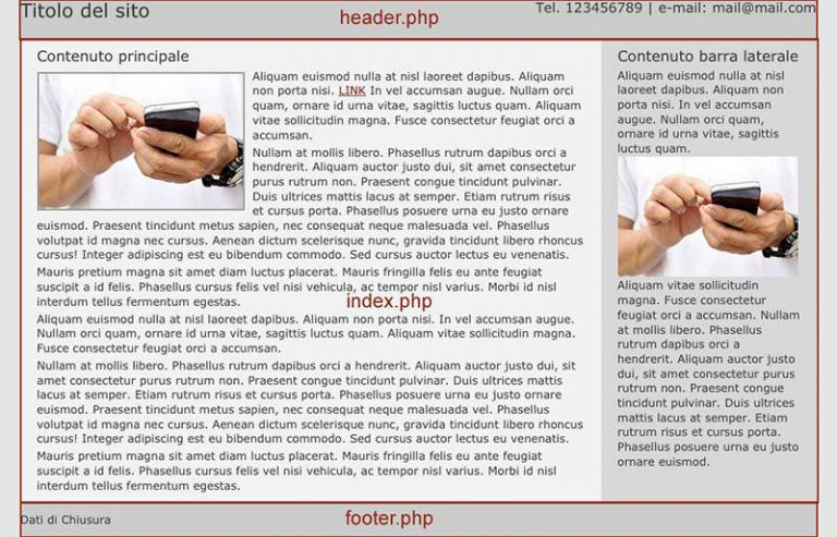 Il primo template WordPress – header e footer
