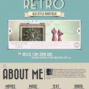 Grafica web - Stile grafico vintage-retro