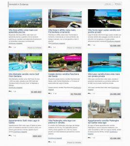 Sito internet immobiliare Ville da Sogno - Immobili in evidenza