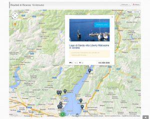 Sito internet immobiliare Ville da Sogno - Immobili in mappa Google