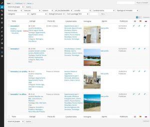 Sito internet immobiliare Ville da Sogno - Amministrazione: visione immobili inseriti