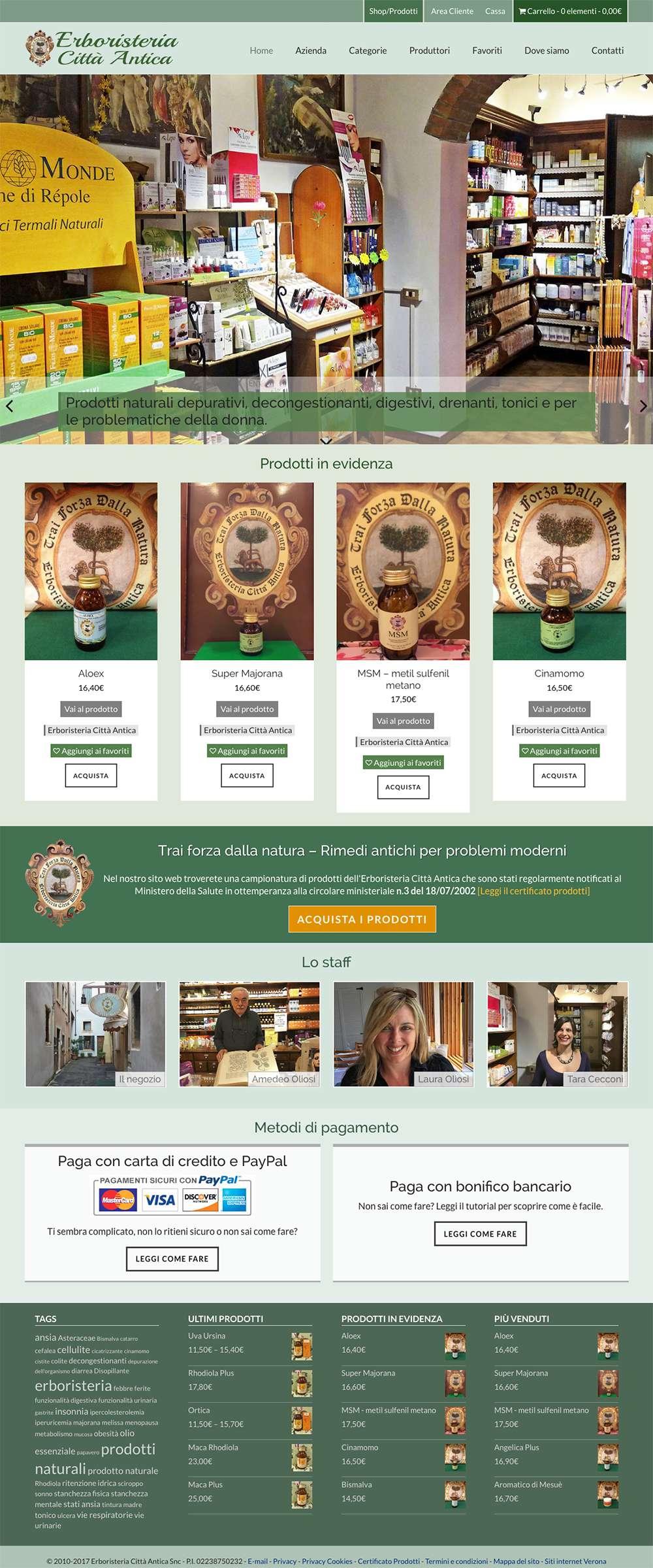 Erboristeria Città Antica - homepage 2
