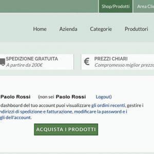 Erboristeria Città Antica - Account Cliente