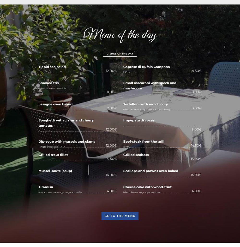 Trattoria Onda Blu - homepage 02 Inglese