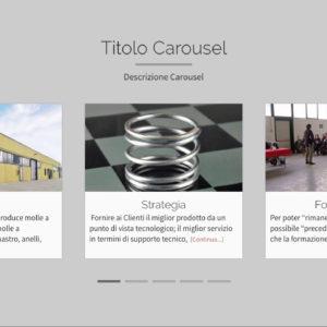 Visualizzazione Home page sezione Carousel