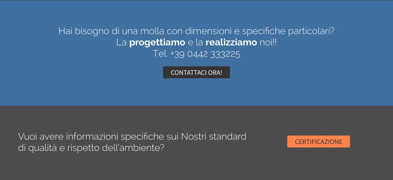 Visualizzazione Home page sezione Call to Action