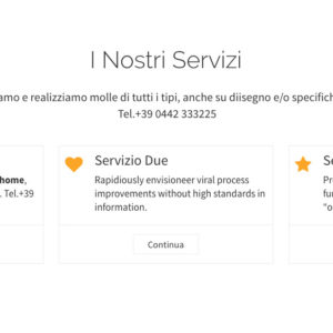 Visualizzazione Home page sezione servizi - template Essenziale